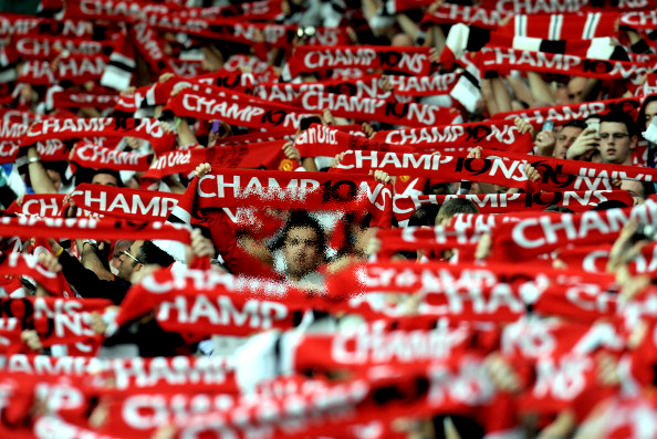 red and white fans